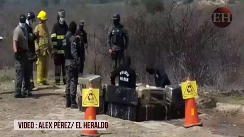 aproximadamente 1000 liras de marihuna son quemadas hoy por agentes militares