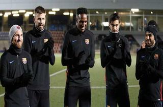 Los mejores aliados de Yerry Mina en sus primeros días de entrenamiento en el Barcelona