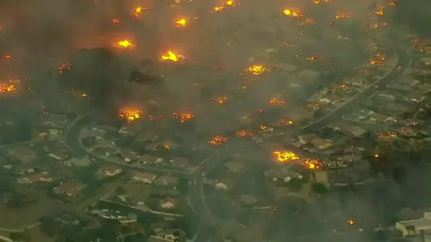 Incendio descontrolado amenaza condado de California