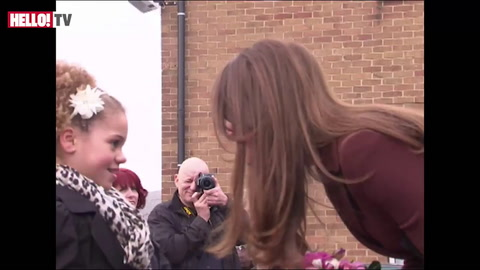Kate greets local residents in Grimsby