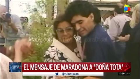 El mensaje de Maradona para Doña Tota en el Día de la Madre