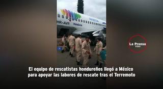 México agradece a Honduras por enviar equipo de rescatistas