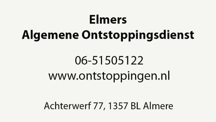 Algemene Ontstoppingsdienst Elmers - Bedrijfsvideo