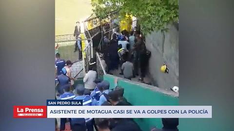 Asistentes de Motagua casi se van a los golpes con la Policía