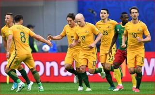 Mark Milligan anota el empate 1 - 1 de Australia ante Camerún