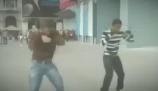 El baile de Aubameyang con 18 años por las calles de Milán
