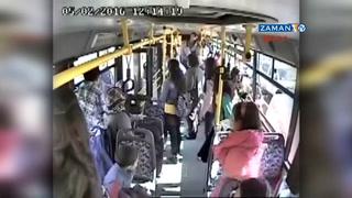 Otobüs şoförünün bağımlı genci kurtarma çabası kamera yansıdı