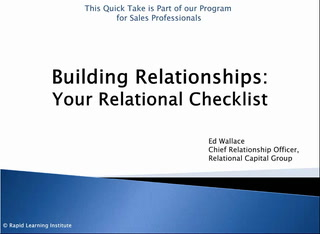 <p>Quick Take - Relational Checklist</p>