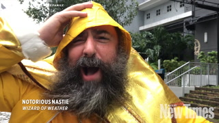 Weather Wizard Notorious Nastie Covers Hurricane Irma Flooding in Brickell