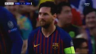 El hattrick de Messi al PSV en la Champions League