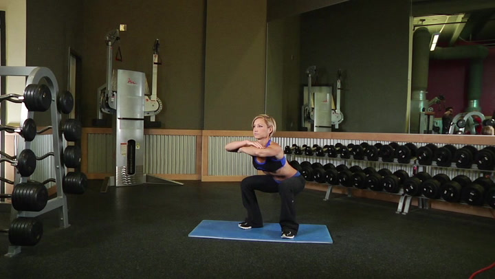 Freehand Jump Squat - Leg Exercise