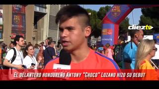 ¡Afición elige al 'Choco' Lozano como el mejor futbolista en el debut del Barca B!