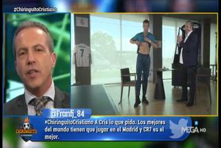 Cristobal Soria alucina en vivo al escuchar a Cristiano Ronaldo