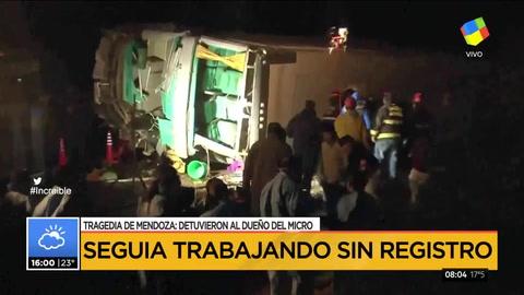 Detuvieron a uno de los choferes de la tragedia de Mendoza: manejaba sin registro ni seguro