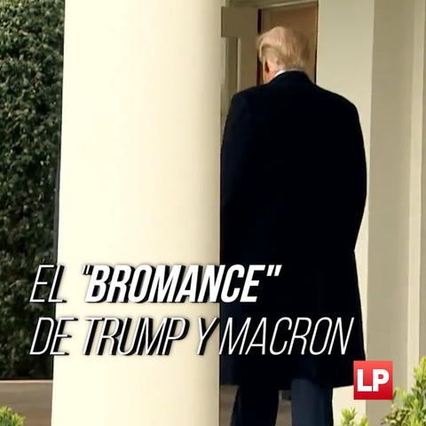 Bromance de Trump y Macron