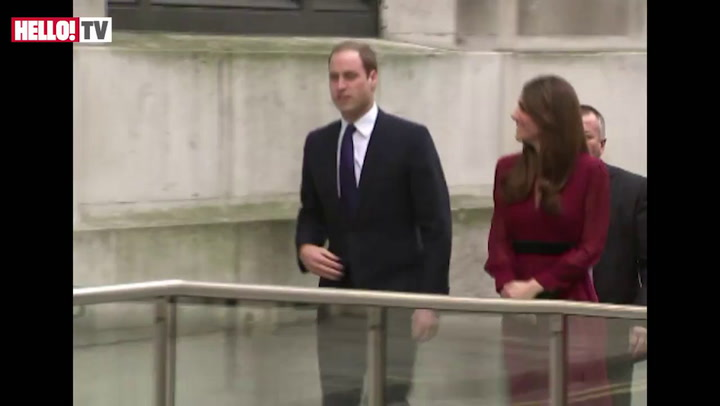 Pregnant Kate attends the unveiling of her first ever official royal portrait