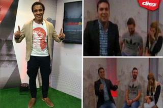 Jornada de bromas en DIEZ TV: Mario Vallecillo y Pacini trolean a Rambo