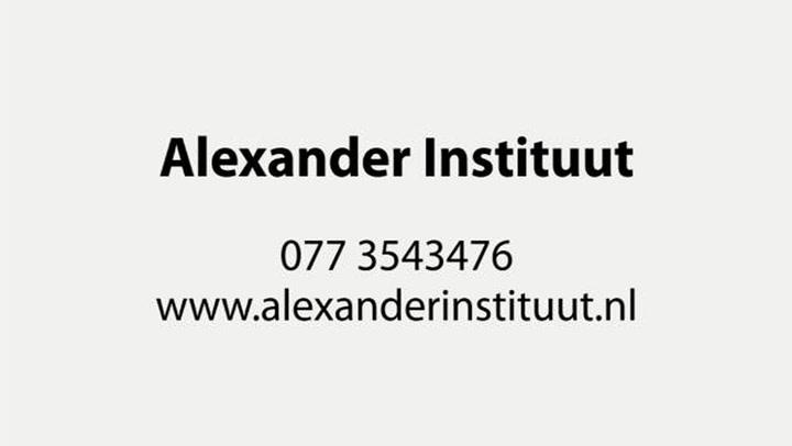 Alexander Instituut Praktijk v Natuurgeneesk & Bio-Informatie Therapie - Bedrijfsvideo
