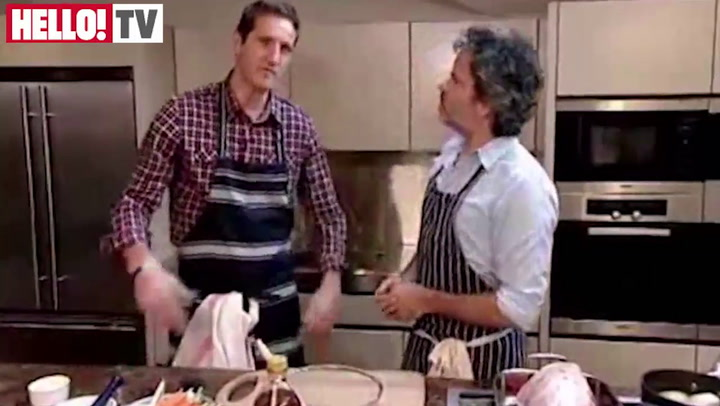 Peter Gordon shows ex-England star Will Greenwood how to make a roast leg of lamb treat for Mother's Day Part 1