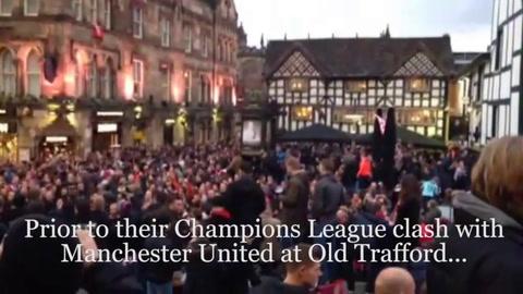 VIDEO - PSV fans filmed singing anti-Semitic chant in Manchester