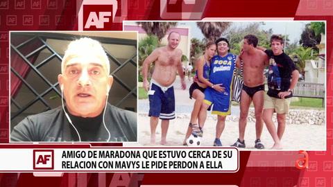 Amigo de Maradona que estuvo cerca de la relación con Mavys la novia de 16 años le pide perdón a ella