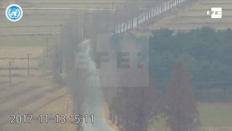 Varios vídeos muestran en detalle la deserción del soldado norcoreano al Sur