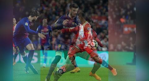 'Choco' Lozano, protagonista en el primer gol del Girona contra Barcelona