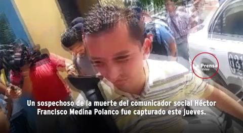 Detienen a sospechoso de matar a periodista hondureño