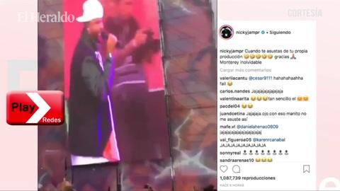 Nicky Jam se lleva susto durante un concierto en México