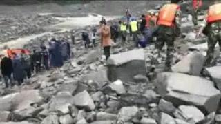 China busca a 118 desaparecidos tras alud