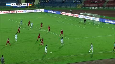 Honduras aplastó a Nueva Caledonia en el Mundial India Sub-17