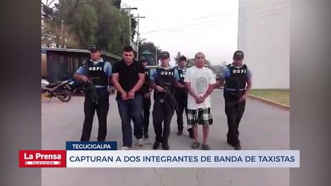 Capturan a dos integrantes de banda de taxistas en Tegucigalpa