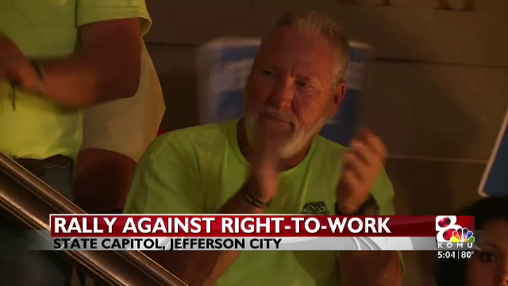 Right-to-work rally