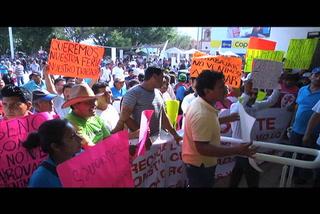 Comerciantes se manifiestan en Reynosa