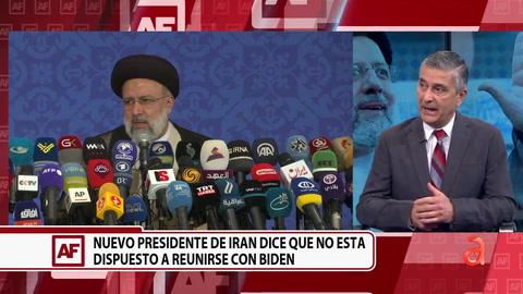 Nuevo presidente de Irán dice que no está dispuesto a reunirse con Biden