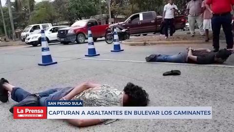 Capturan infraganti a dos asaltantes en el barrio Los Andes de San Pedro Sula