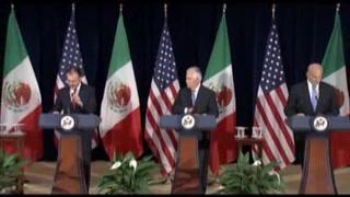México y EU acuerdan esfuerzos contra el narcotráfico