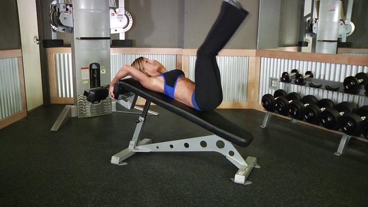 Decline Reverse Crunch - Ab Exercise