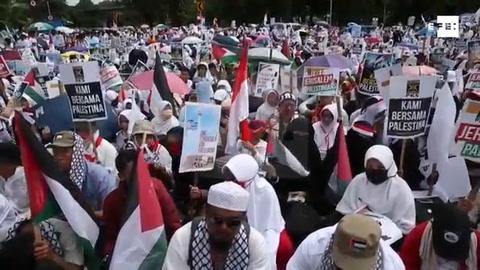 La decisión de Trump sobre Jerusalén recibe una multitudinaria protesta en Indonesia