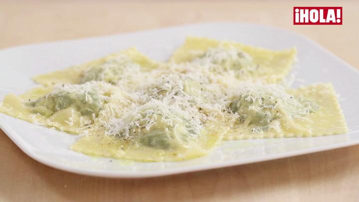 Vídeo-receta: Raviolis de espinacas y queso ricotta