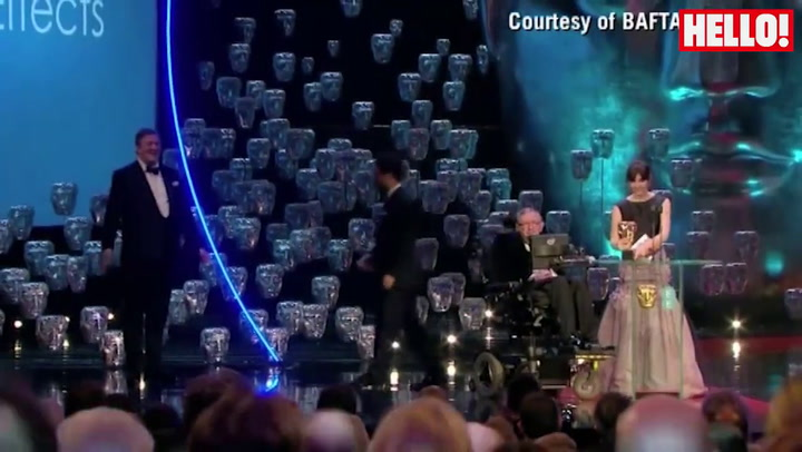 Stephen Hawking received a standing ovation at the BAFTAs