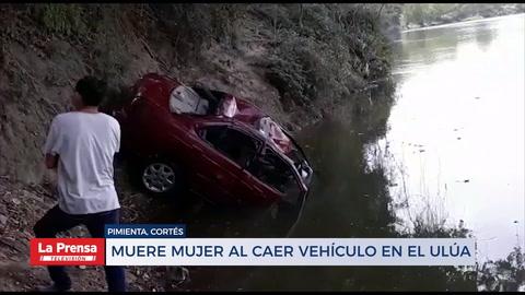 Muere una mujer y un niño desaparece al caer vehículo en el río Ulúa