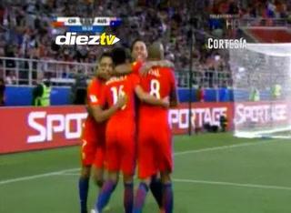 Gooooooooooooool de Chile, al minuto 67, Rodríguez pone el 1-1 ante Australia
