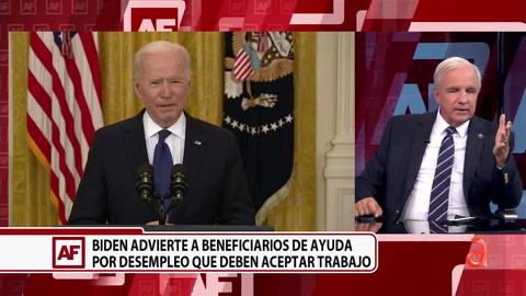 Biden pide públicamente a las personas que reciben ayuda por desempleo que regresen a trabajar