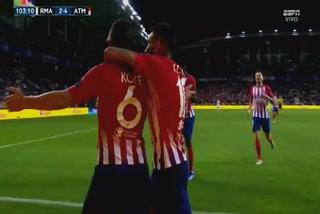 Koke anota el 4 - 2 del Atlético de Madrid ante el Real Madrid