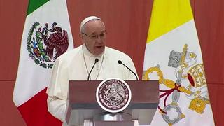 Papa Francisco llama a los mexicanos a ser honestos