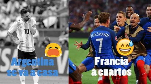 EHmojicrónica: Francia derrota a Argentina y está en cuartos de final