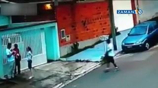 Bebeği yere attıp hırsıza ateş etti