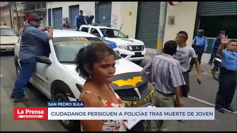 Policías huyen tras homicidio de joven en San Pedro Sula