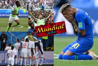 Mundial al día: Nigeria le da vida a Argentina y Brasil elimina a Costa Rica